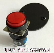 KILL SWITCH KIT - 16MM LED Pushbutton on - off Momentary  EVH Style Ed Red
