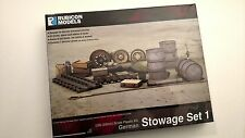Rubicon Models: German Stowage Set 1 - 28mm WW2 - New! Great for Bolt Action