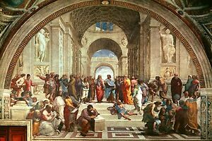 Raphael The School of Athens Painting Comissioned By Pope Fine Art Canvas Print
