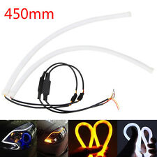 2 x 45cm Switchback LED Lampe Strip Streifen DRL Tagfahrlicht Leuchte Weiß /Gelb