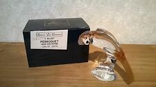 CRIST. ROYALES DE CHAMPAGNE *NEW* Perroquet queue ocre H.11,5cm L.13,5cm 500g