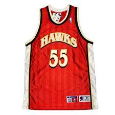 Vtg Rare NBA Atlanta Hawks #55 Mutombo Authentic Champion Jersey. Size 44