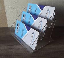 3-Fach Flyerständer für DIN LANG u. 1/3 A4 im Querformat,Prospektständer,Display