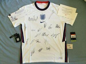 Nike England Euro 20 Signed Football Shirt Home 2020/2021 Senior Squad with COA