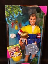 New 1996 Big Brother Ken Barbie Doll and Baby Brother Tommy Waves #17055 Vintage