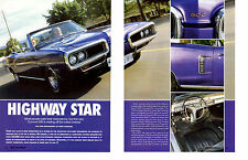 1970 DODGE CORONET 500 CONVERTIBLE 383  ~  GREAT 4-PAGE ARTICLE / AD