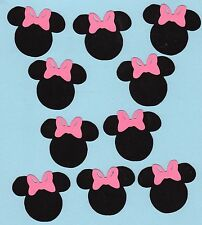 "Minnie Mouse with pink bow die cuts - 2"" - set of 12"