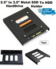 "PC 2.5"" to 3.5"" SSD to HDD Adapter Metal Mounting Bracket Hard Drive Holder UK"
