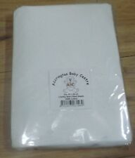 2 x Amby Nest Fitted Sheets  - Premium Quality 100% Cotton - White 92 x 27 cm