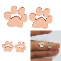 Womens Cute Dog Puppy Cat Animal Paw Print Ear Stud Earrings Jewelry Acce Gift