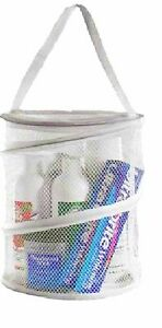 Shower Caddy Mesh Basket Shelf with Handle Drain Hole Quick Dry Gym Dorm Travel