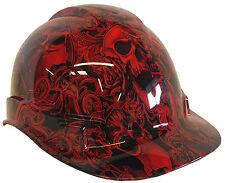 Hard Hat Red Filigree Skulls w/ Free BRB Customs T-Shirt