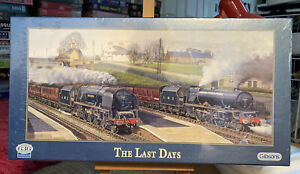 NEW THE LAST DAYS BARRY FREEMAN JIGSAW 636 PIECE GIBSONS STEAM TRAIN PUZZLE