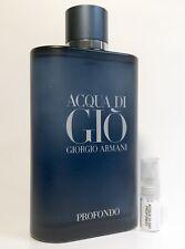 Armani Acqua Di Gio Profondo 2ml Sample Code Prive Emporio