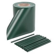PVC Sichtschutzstreifen Zaunfolie Sichtschutz Zaunblende Doppelstabmatten Grün
