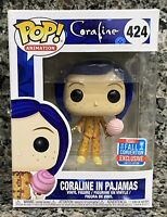 FUNKO POP! ANIMATION #424 CORALINE IN PAJAMAS NYCC SHARED EXCLUSIVE BOX DAMAGE