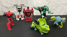 Lot Of 6 Transformers 2015 Bots - Cars - Dinos
