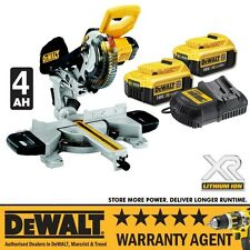DeWalt DCS365M2 DCS365 18v Cordless 184mm Mitre Saw DCS365 + 2 X 4Ah BATTERY  RW