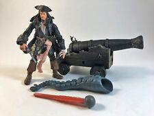 POTC Dead Man's Chest Deluxe Capt. Jack Sparrow Figure w/ Cannon Kraken Zizzle