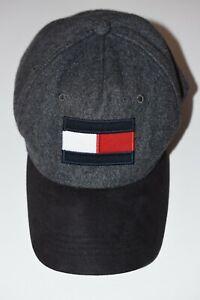 Tommy Hilfiger Logo Baseball Cap Mütze Hut Wolle Grau Gr. One Size