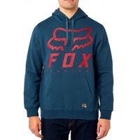 Fox Racing Men's Heritage Forger Pullover Fleece Hoody Navy Blue Red XLarge