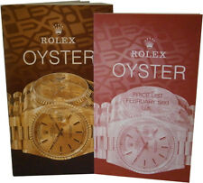 Vintage Rolex Oyster Watch Catalogue and UK Price List 1993