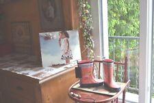 catimini botte neuve  pluie rose les oiseaux 25/26 +chaussette neuve off g marqu