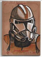 Clone Trooper Star Wars Monte Moore Masterwork 2015 Wood Sketch 1/1 Only Did 2