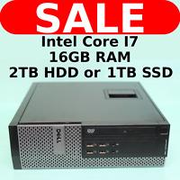 Dell Optiplex SFF INTEL upto i7, 2TB HD HDD SSD, 16GB RAM Windows 10 Desktop PC