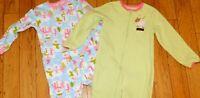 Carter's Toddler Girls Winter Pajamas Sz 5T Kids Child