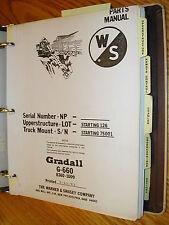 Gradall G 660 Excavator Parts Manual Book Catalog Guide List Telescopic Backhoe