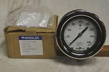 """Weksler 4 1/2"""" Royal Gauge AS442Pk4LW Pressure Gauge 400 Max PSI 1/4"""" NPT NEW"""