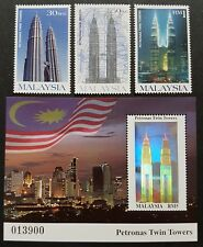 1999 Malaysia Petronas Twin Towers Building KLCC 3v Stamps & Hologram Mini-Sheet