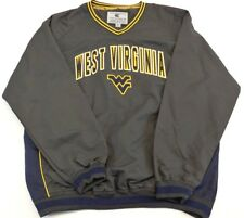 WEST VIRGINIA Colosseum Athletics long sleeve v-neck lined pullover jacket, L(E)