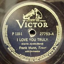 FRANK MUNN I Love You Truly, Loch Lomond, In The Gloaming, Love's Old Sweet Song