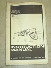 NOS! SKIL TOOLS #222 HAMMER DRILL INSTRUCTION MANUAL w/ PARTS LIST