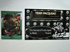 2011 Manny Pacquiao Legends & Boxing  Card  originally  signed limited edition