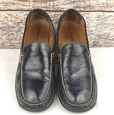 Hush Puppies Women's Sz 11M Loafers Black Leather Classic Slip On Shoes