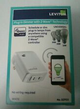 Leviton DZPD3-2BW Decora Smart Plug-in Dimmer with Z-Wave Plus Technology White