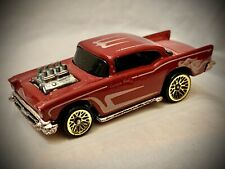 "Vintage 1976 Hot Wheels - Maroon '57 Chevy ""Custom Rod"""