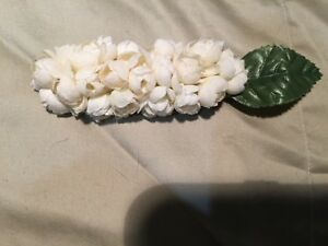 Ivory Tone Silk Flowers Hair Barrette