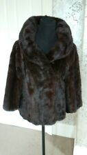 Mink Jacket Coat Real Fur Excellent Condition Evening Bolero Party Sale!