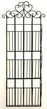 Black Scroll Wall Hanging 3 Section Magazine Rack