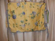 Waverly Blossom Hill Hydrangeas Yellow Blue Polka Dot 1 Standard Pillow Sham