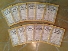 Complete Set of National Geographic Magazines from 1925 - 12 issues!