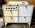 ANTIQUE 1920s Gas Oven Universal Oxford 1920s Stove 4 burner Robert Shaw enamel photo