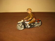 WW2 LINEOL ELASTOLIN FRENCH MOTORCYCLE COMPOSITION TOY SOLDIER