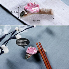 Hot Ceramic Ware Plum Blossom Chopstick Rest Porcelain Holder Stand  party Decor