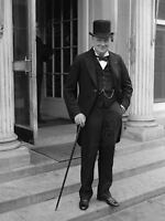 Winston Churchill Top Hat Cane Prime Minister Britain Canvas Art Print