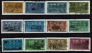 3 Sets of World War II Used Canada Stamps from 1993-95